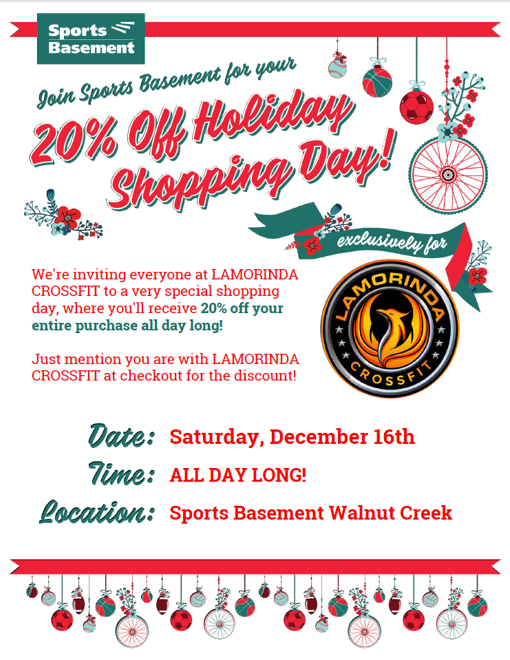 Get your shop on tomorrow!